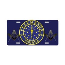 Indiana Free Masons Aluminum License Plate