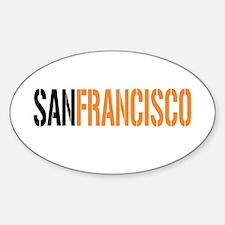 SAN FRANCISCO Oval Decal