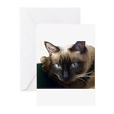 Cute Siamese cat Greeting Cards (Pk of 10)