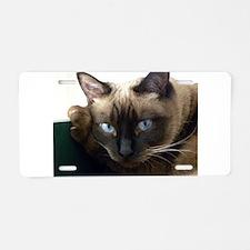 Cute Siamese cat Aluminum License Plate