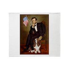 Lincoln / Basset Hound Throw Blanket
