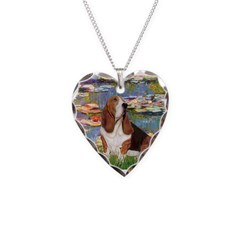 Lilies & Basse Necklace Heart Charm