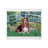 Bassett hound Fleece Blankets