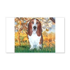 Monet's Spring & Basset Wall Decal