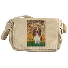 Monet's Spring & Basset Messenger Bag