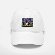 Starry Night & Basset Baseball Baseball Cap