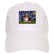 Starry Night & Basset Baseball Cap