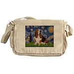 Starry Night & Basset Messenger Bag