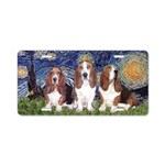 Starry Basset Aluminum License Plate