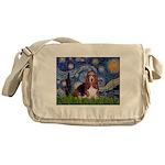 Starry / Basset Hound Messenger Bag