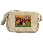 2 Angels & Basset Messenger Bag