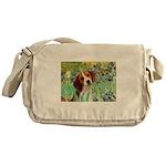 Irises & Beagle Messenger Bag
