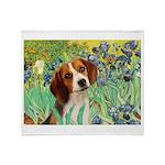 Irises & Beagle Throw Blanket