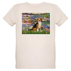 Lilies (#2) - Beagle #7 Organic Kids T-Shirt