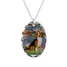 Lilies (#2) - Beagle #7 Necklace
