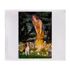 Fairies and Beagle Throw Blanket