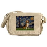 Starry Night & Beagle Messenger Bag