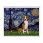 Starry Night & Beagle Throw Blanket