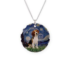 Starry Night / Beagle Necklace