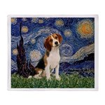Starry Night / Beagle Throw Blanket