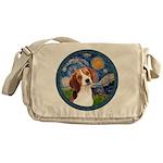 Starry Night Beagle #1 Messenger Bag