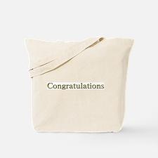 Congratulations Tote Bag
