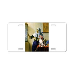 Woman w/Pitcher - Beagle Aluminum License Plate