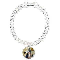Woman w/Pitcher - Beagle Charm Bracelet, One Charm