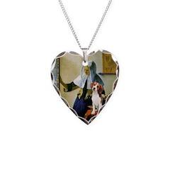 Woman w/Pitcher - Beagle Necklace