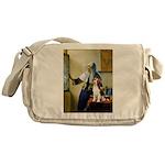 Woman w/Pitcher - Beagle Messenger Bag
