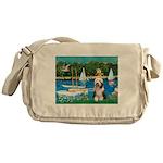 Sailboats / Beardie #1 Messenger Bag