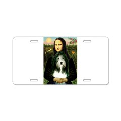 Mona / Bearded Collie Aluminum License Plate