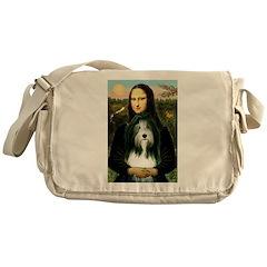 Mona / Bearded Collie Messenger Bag
