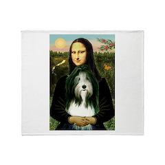 Mona / Bearded Collie Throw Blanket