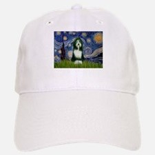 Starry Night /Bearded Collie Baseball Baseball Cap