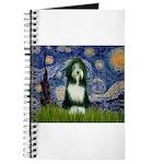Starry Night /Bearded Collie Journal