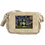 Starry Night /Bearded Collie Messenger Bag