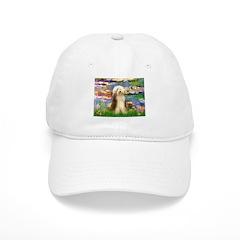 Lilies / Bearded Collie Baseball Cap