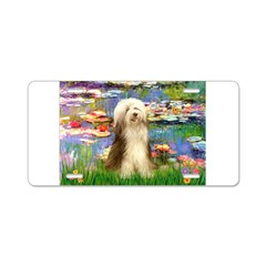 Lilies / Bearded Collie Aluminum License Plate