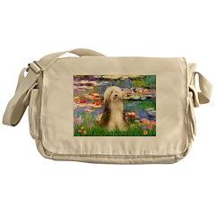 Lilies / Bearded Collie Messenger Bag