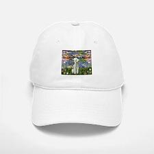 Lilies / Bedlington T Baseball Baseball Cap