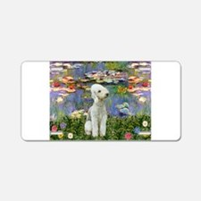 Lilies / Bedlington T Aluminum License Plate