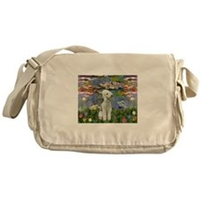 Lilies / Bedlington T Messenger Bag