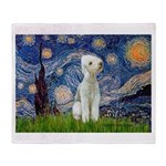 Starry / Bedlington Throw Blanket