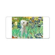 Irises /Bedlington T Aluminum License Plate