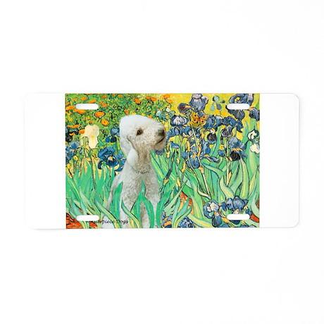 Irises /Bedlington T Aluminum License Plate