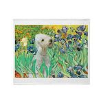 Irises /Bedlington T Throw Blanket