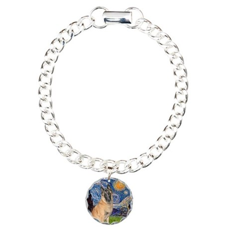 Starry/Belgian Malanois Charm Bracelet, One Charm