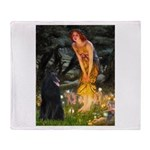 Fairies /Belgian Sheepdog Throw Blanket