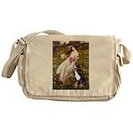 Windflowers & Bernese Messenger Bag